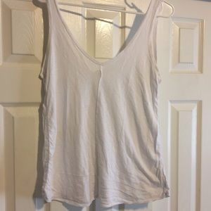AG light weight white tank top